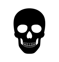 Black skull isolated on white background for vector image