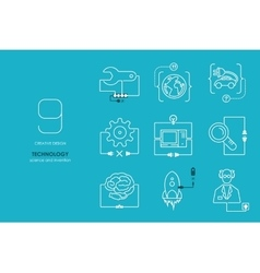 Connection flat design technology vector image