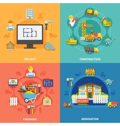 Construction flat concept vector