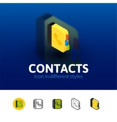Contacts icon in different style vector image vector image