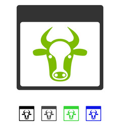 Cow page flat icon vector
