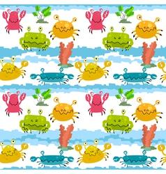 cute crabs vector image vector image