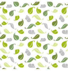 decorative seamless pattern green leaves vector image vector image