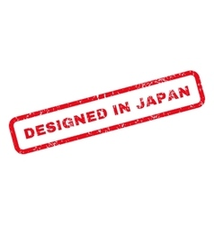 Designed In Japan Text Rubber Stamp vector image vector image