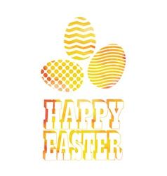 Easter vintage label vector image