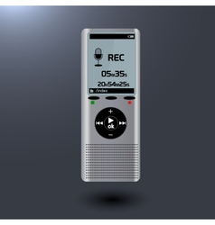 Electronic dictaphone for digital recoder vector
