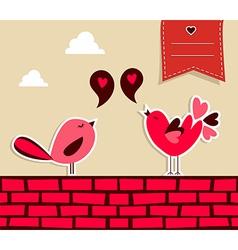 Fresh social media birds love vector image vector image