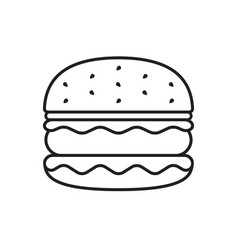 Hamburger icon thin line vector