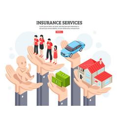 Insurance services design concept vector