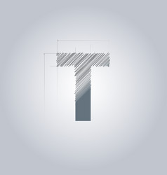 Letter t logo alphabet logotype architectural vector