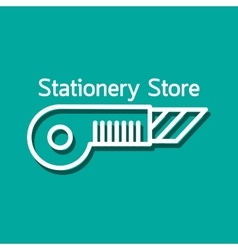 Linear logo for stationery store vector image