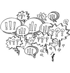 Man with speech balloons vector image vector image
