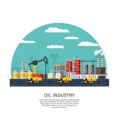 Petroleum industry template vector