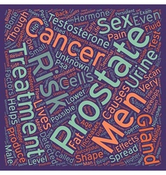 Risk factors for prostate cancer text background vector