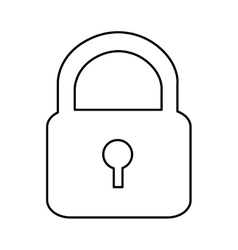 Safety lock pictogram icon image vector