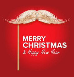 santa s mustache classic christmas vector image vector image
