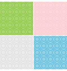 set of geometric patterns for background vector image vector image