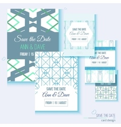 Set of stylish multipurpose Save the date vector image
