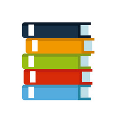 stack books library literature knowledge vector image