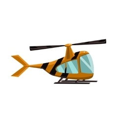 Stripy helicopter toy aircraft icon vector