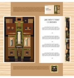 Template jof design broshure with historic mansion vector image