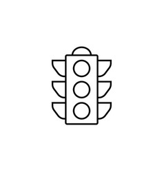Traffic light line icon stop light and navigation vector