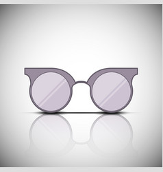 vintage glasses with reflection vector image vector image