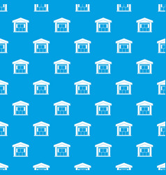 Warehouse building pattern seamless blue vector