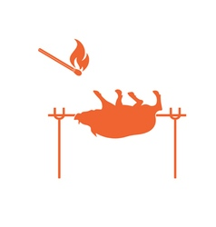Barbecue boar and matches vector