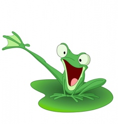 happy frog vector image