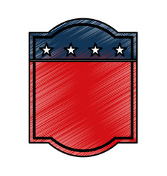 American emblem isolated icon vector