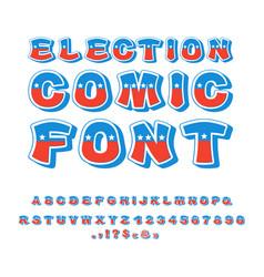Election comic font political debate in america vector