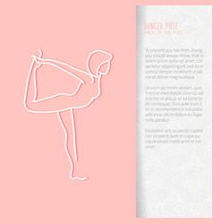 Flat yoga booklet design vector