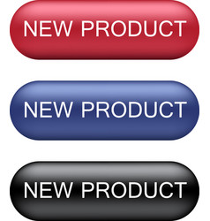 New product buttons collection vector