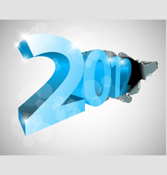 New year 2012 coming from the big hole vector