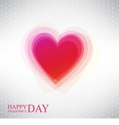 Abstract heart by valentines day vector