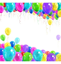 Banner of balloons vector
