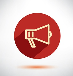 Megaphone loudspeaker isolated flat icon vector