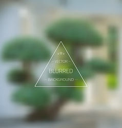 Abstract tree gradient mesh blurred background vector