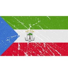 Flag of equatorial guinea with old texture vector