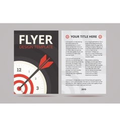 Flyer design template with time management vector