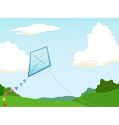 kite flying vector image