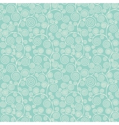 Seamless pattern with curvy spirals vector