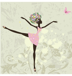 Ballerina girl vector