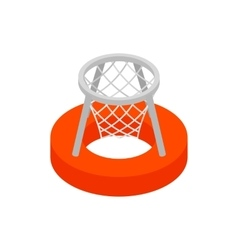 Basket on water 3d isometric icon vector