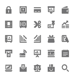 Finance icons 2 vector