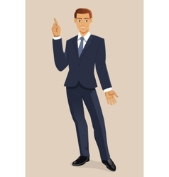 Smiling businessman vector