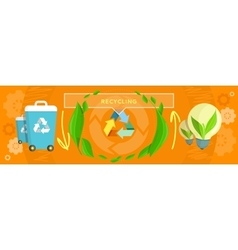 Banner recycling concept design vector