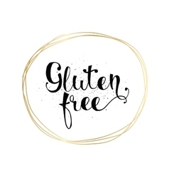 Gluten free inscription hand drawn tag or label vector