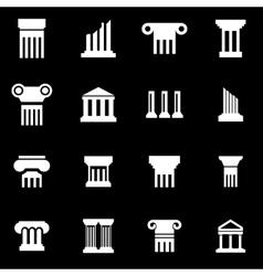 White column icon set vector